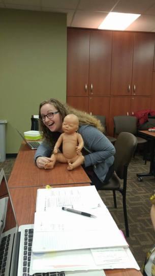 Having fun doing clinical skills, year 1
